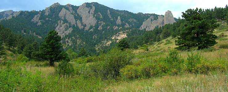 The Flatirons in Boulder County
