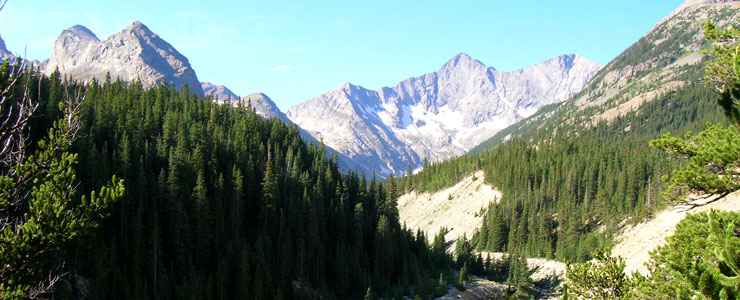 Upper Huerfano Valley in the Sangre de Cristo Wilderness