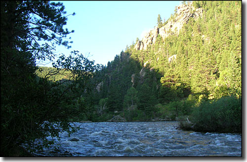 The Cache la Poudre River at the wilderness boundary
