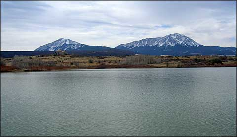 Wahatoya Lakes State Wildlife Area with the Spanish Peaks in the background