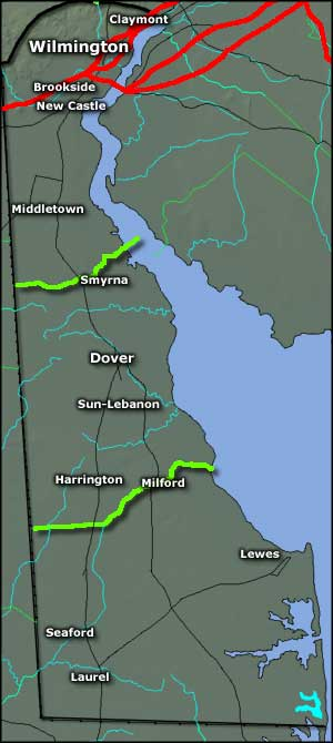 Map of Delaware