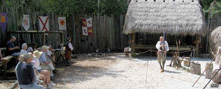 Living history demonstration at Camp Uzita