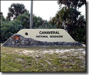 Canaveral National Seashore entrance feature