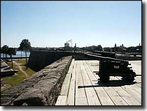 The gun deck at Castillo de San Marcos National Monument
