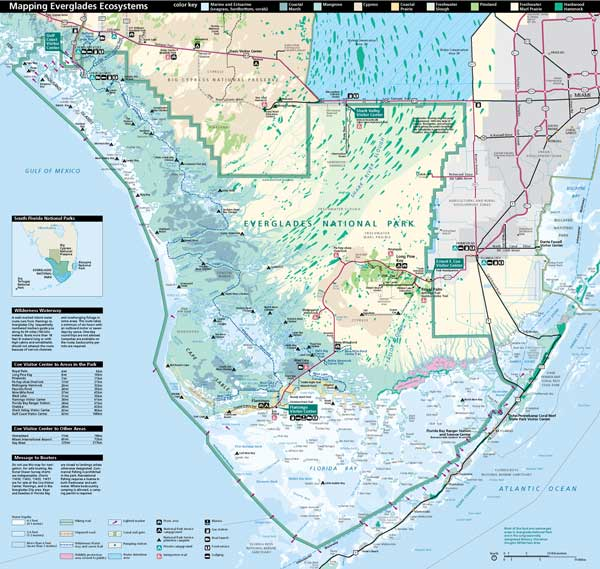 Map of Everglades National Park