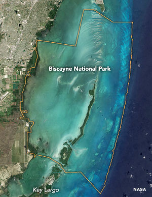 Map of Biscayne National Park