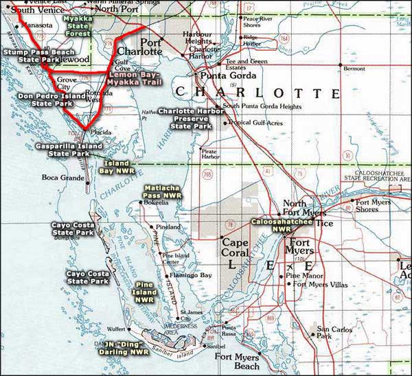 Charlotte Harbor area map
