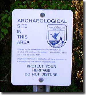 Sign noting Archaeological Site