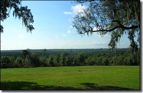 The view south from the grounds of Bok Tower and Gardens