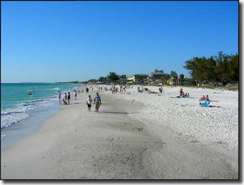Coquina Beach at the southern end of the Bradenton Beach Scenic Highway