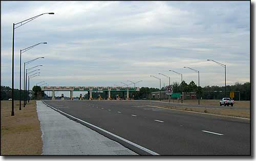 Toll booths on the Suncoast Scenic Parkway