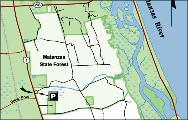 Map of Matanzas State Forest