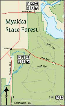 Map of Myakka State Forest