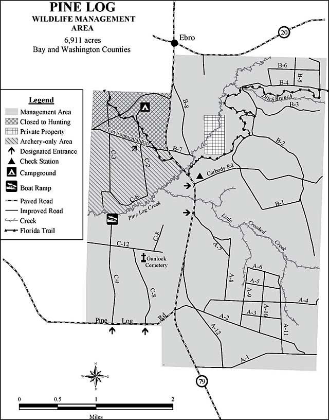 Map of Pine Log State Forest and Wildlife Management Area