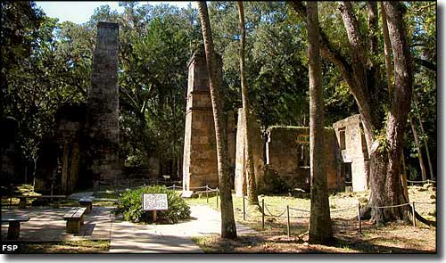 The Sugar Mill ruins at Bulow Plantation Ruins Historic State Park