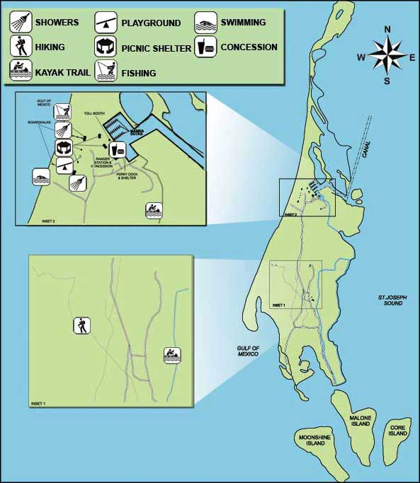 Map of Caladesi Island State Park