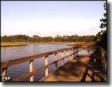 Boat dock on Pellicer Creek at Faver-Dykes State Park