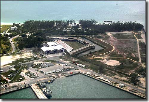 An aerial view of Fort Zachary Taylor Historic State Park