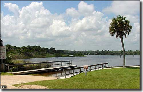 The boat ramp at Gamble Rogers Memorial State Recreation Area