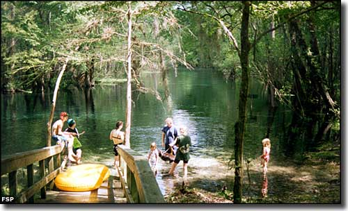 Getting ready to go tubing at Ichetucknee Springs State Park