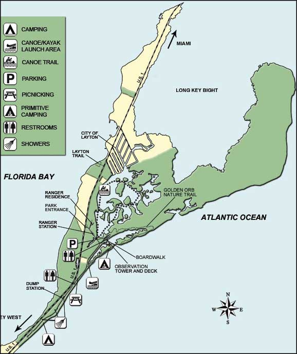 Long key state park florida state parks long key state park map sciox Choice Image