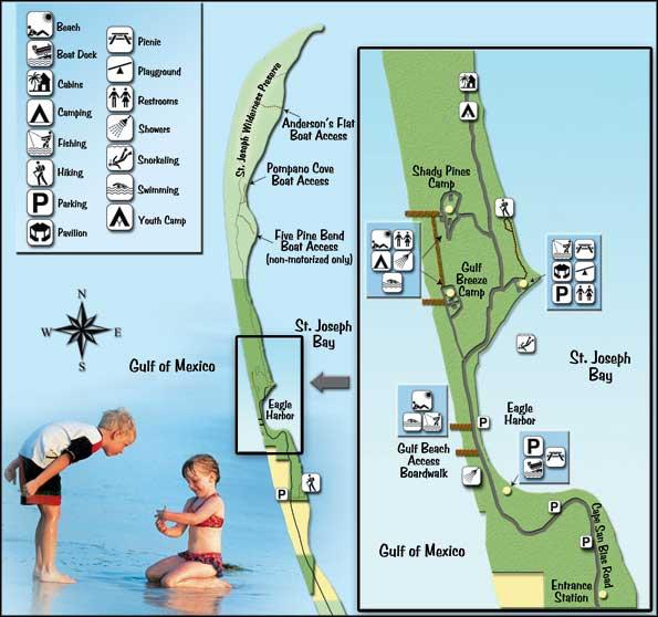 TH Stone Memorial St. Joseph Peninsula State Park Map