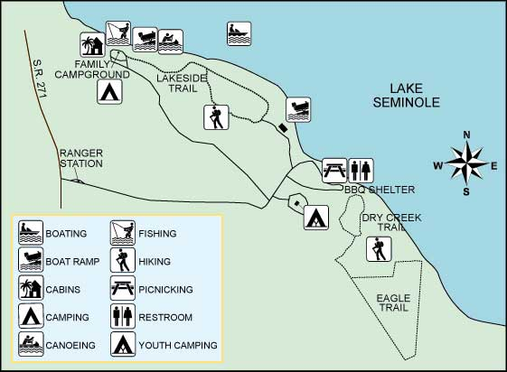 Florida State Parks Camping Map.Three Rivers State Park Florida State Parks