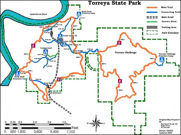Map of Torreya State Park