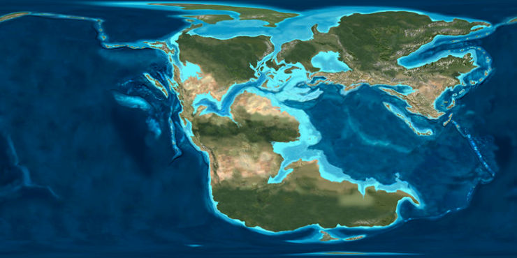 A map of the Earth 170 million years ago