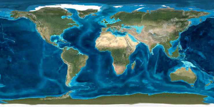 A map of the world 20 million years ago