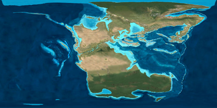 How the world was 220 million years ago