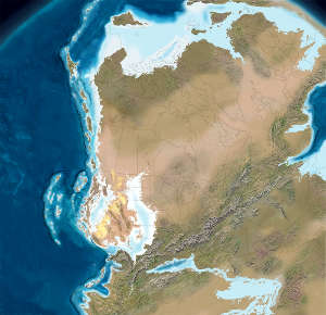 North America 290 million years ago