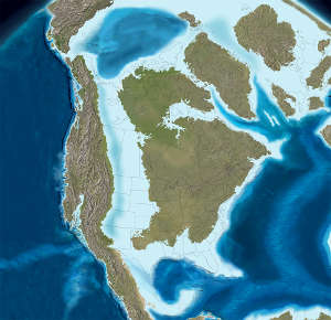 Map of North America 85 million years ago
