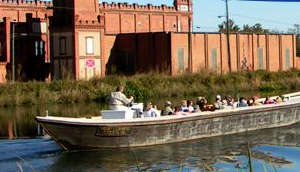 A tour boat on the Augusta Canal