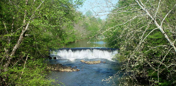 Big Creek Dam, on the Chattahoochee River National Recreation Area
