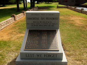 The Immortal 600 Monument at Fort Pulaski
