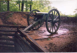 A cannon emplacement at Kennesaw Mountain National Battlefield Park