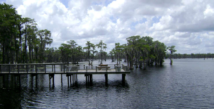 The fishing pier on Banks Lake