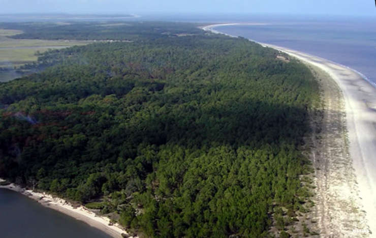 An aerial view of Blackbeard Island National Wildlife Refuge