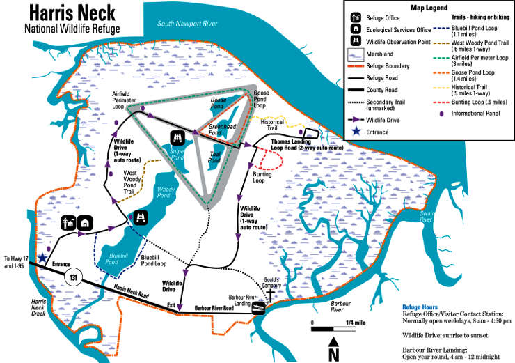 Map of Harris Neck National Wildlife Refuge