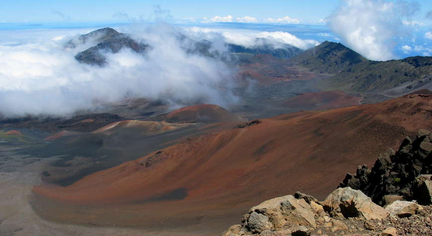 The crater of Haleakala