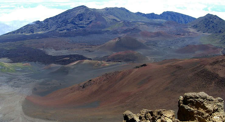 In the crater area at Haleakala National Park