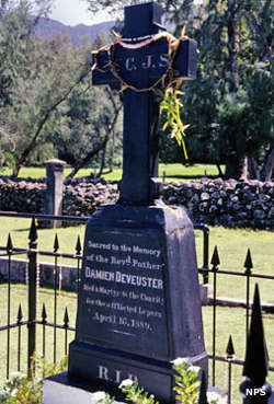 Gravesite of Father Damien