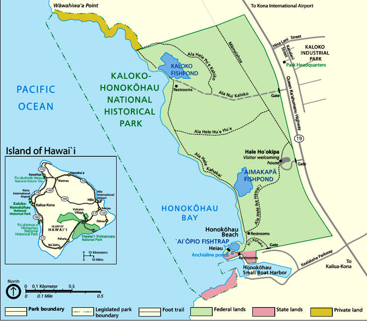 Map of Kaloko-Honokohau National Historical Park