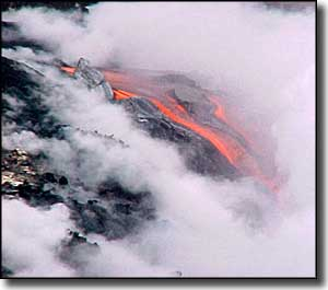 Lava flow at Hawaii Volcanoes National Park