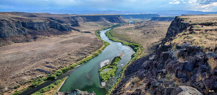 A view of the Snake River Canyon at the Morley Nelson Snake River Birds of Prey National Conservation Area
