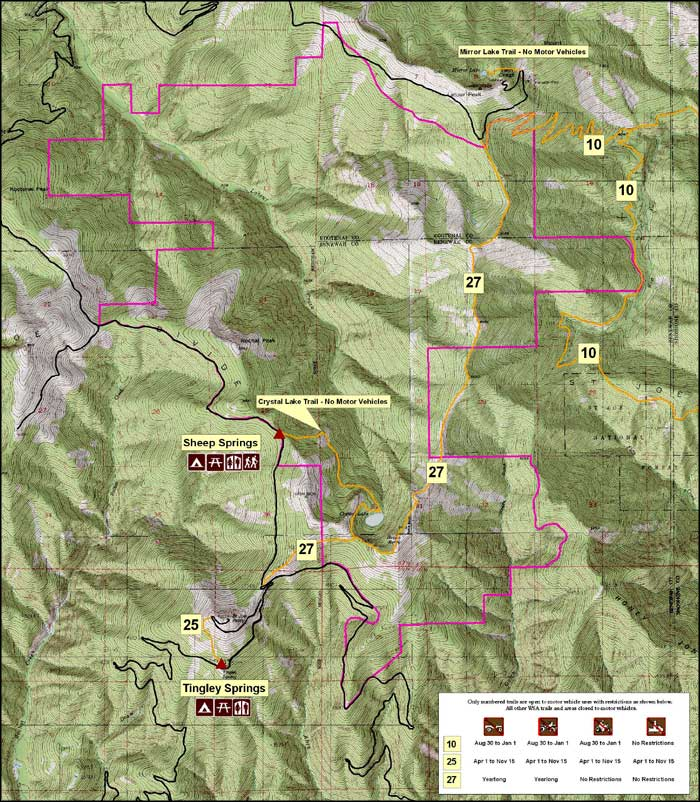 Crystal Lake Wilderness Study Area map