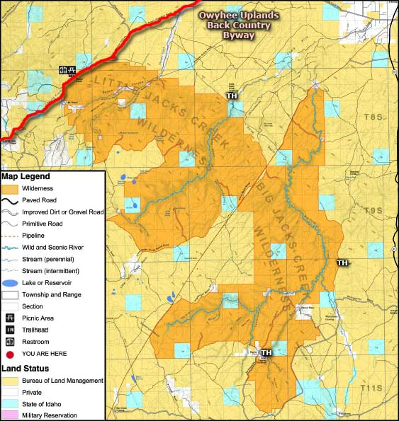Little Jacks Creek Wilderness map