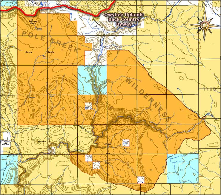 Pole Creek Wilderness map