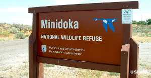 Sign marking Minidoka National Wildlife Refuge